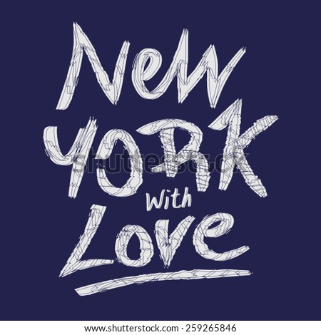 New York typography, t-shirt graphics, vectors - stock vector