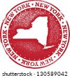 New York USA State Stamp - stock vector