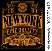 New york Vintage Slogan Man T shirt Graphic Vector Design - stock vector