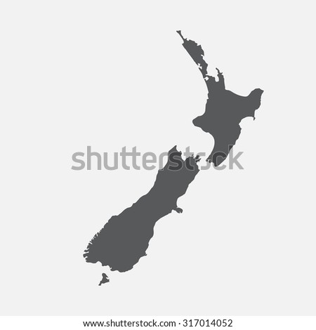 New Zealand country border map.