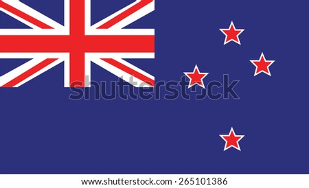 New Zealand  Flag for Independence Day and infographic Vector illustration. - stock vector