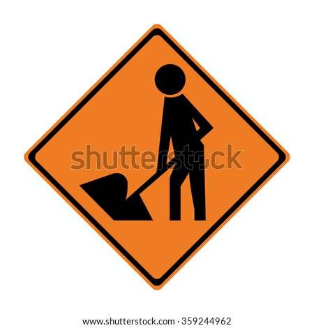 New Zealand Road Working Sign - stock vector