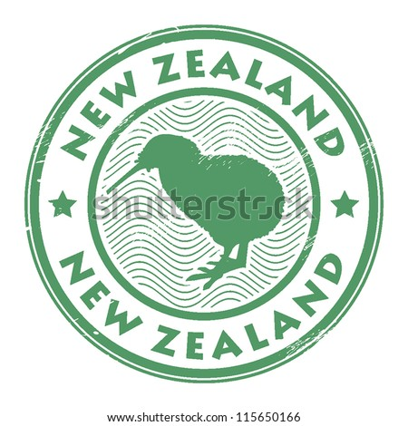 new zealand stamp, vector illustration - stock vector