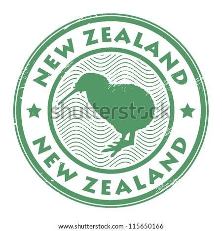 new zealand stamp, vector illustration - stock vector