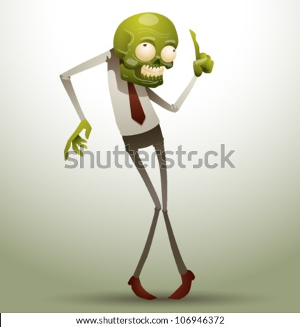 new zombie office 01 - stock vector