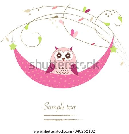 Newborn twin baby greeting card with flowers vector background