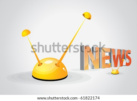 news and antenna - stock vector