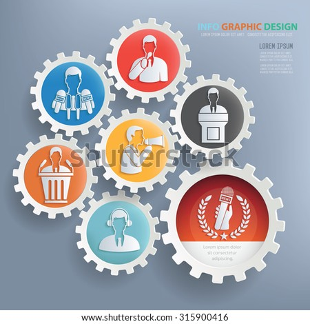 News and people business design infographic design,clean vector - stock vector