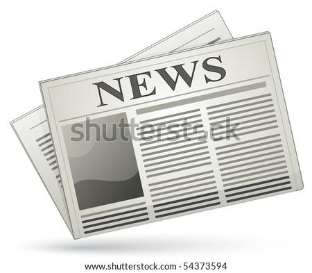 News icon. Vector newspaper icon - stock vector