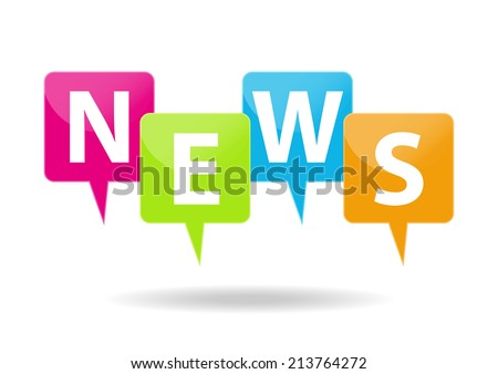 News icons - stock vector