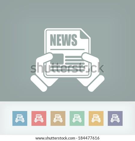 News journal - stock vector