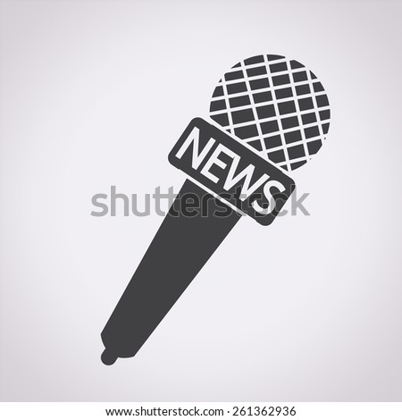 news microphone icon - stock vector