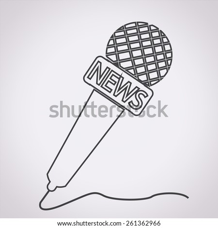 news microphone icon