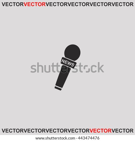 News microphone icon. - stock vector