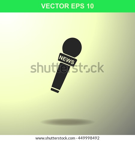 News microphone icon. Illustration for business. - stock vector
