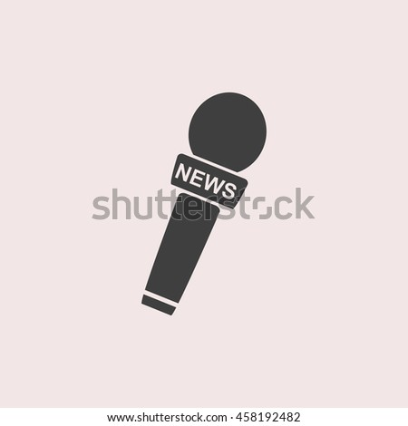 News microphone web icon. Isolated illustration - stock vector