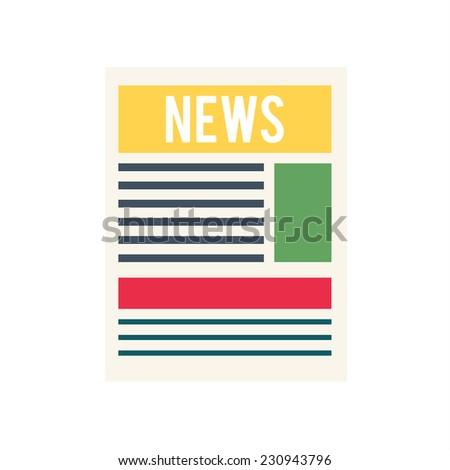 news paper icon - stock vector
