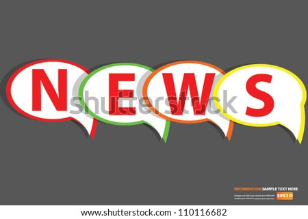 News sign bubbles,Vector - stock vector