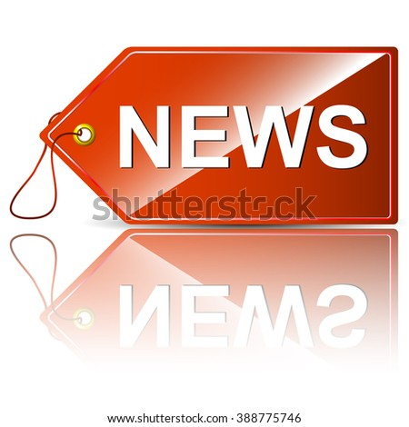 News Tag Special Offer Label Vector