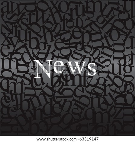 News written on abstract background - stock vector