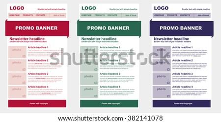 newsletter template business nonprofit organization stock vector hd