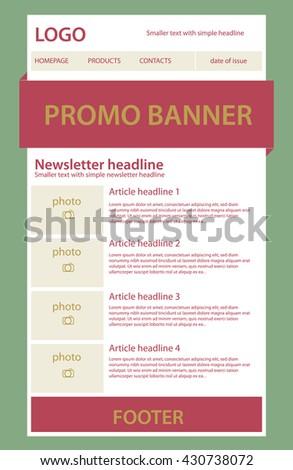 newsletter template business nonprofit organization stock vector