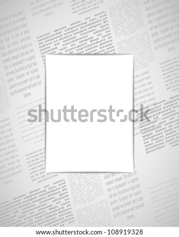 newspaper frame vector illustration eps10 2 layers