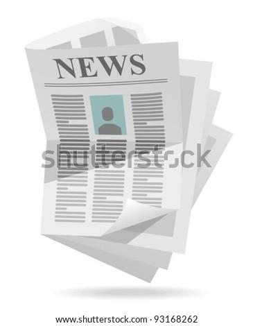 newspaper icon - stock vector
