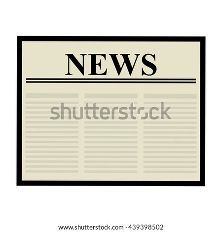 Newspaper icon. Communication design. vector graphic - stock vector