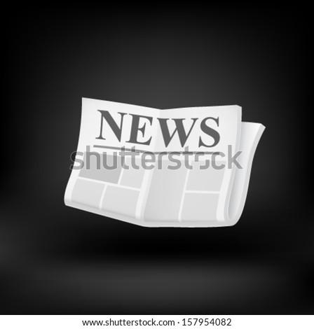 Newspaper icon. Vector - stock vector
