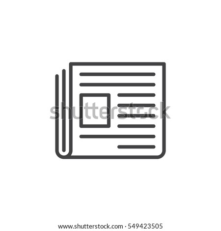 Newspaper Line Icon Outline Vector Sign Stock-Vektorgrafik 549423505 ...