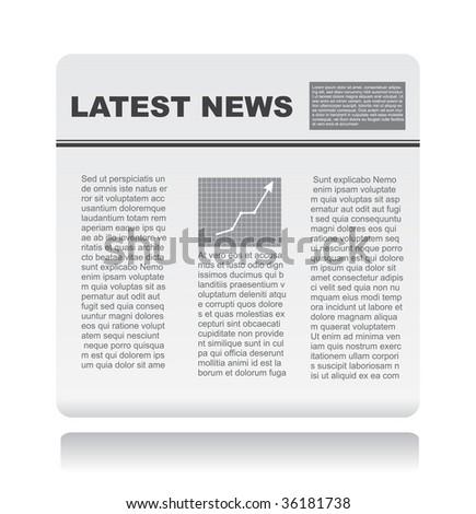 newspaper on vector - stock vector