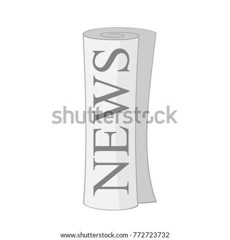 newspaper roll icon. Vector illustration isolated on white background