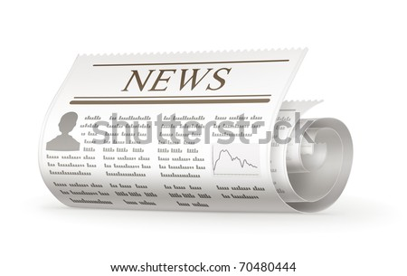 Newspaper rolled, 10eps - stock vector
