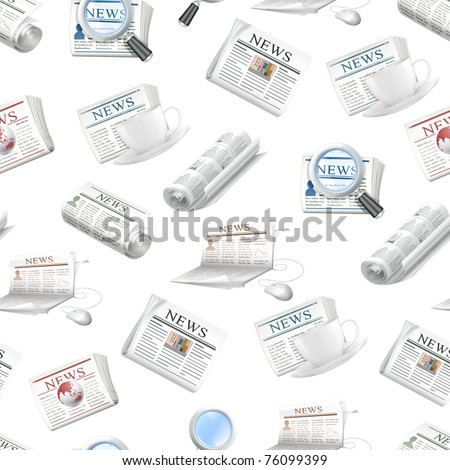 Newspaper, seamless pattern
