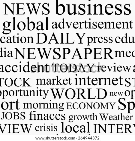 Newspaper seamless pattern. Vector illustration - stock vector