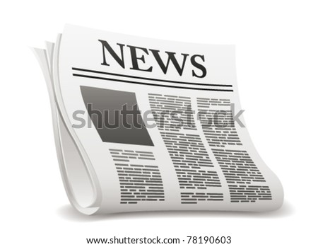 Newspaper. Vector