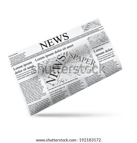 Newspaper vector illustration icon template
