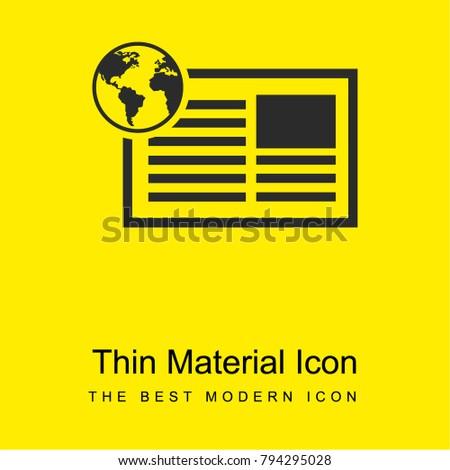 Newspaper International Information Education Bright Yellow Stock