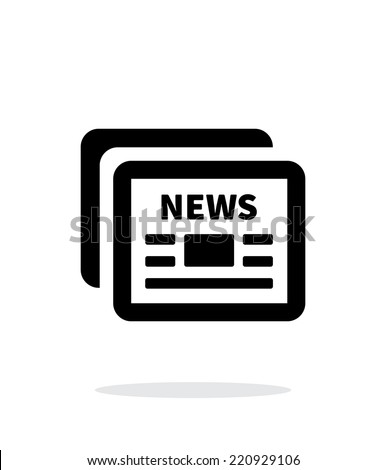 Newspapers icon on white background. Vector illustration. - stock vector