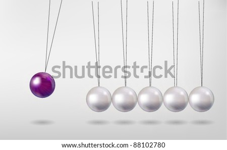 Newton's Cradle Vector - stock vector