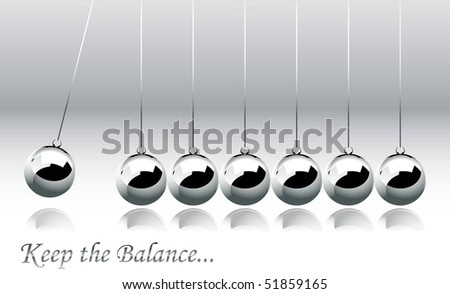 Newtons Cradle - stock vector