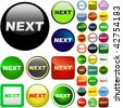 Next button. Vector set for web. - stock photo