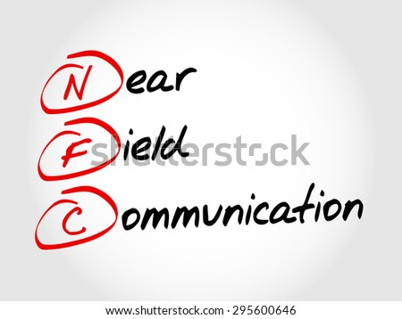 NFC Near Field Communication, acronym business concept
