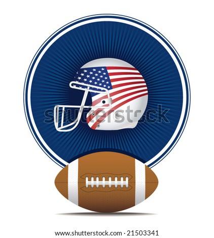 NFL, american football, ball & helmest - stock vector