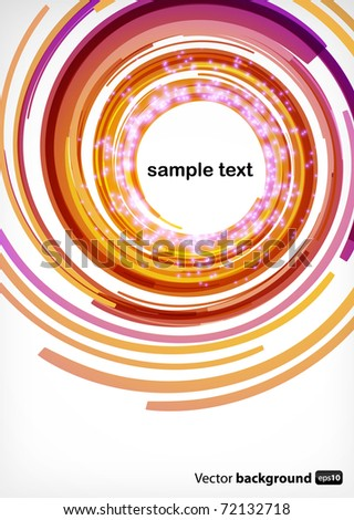 Nice abstract modern background with round shapes - stock vector