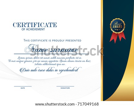 nice and beautiful certificate design templates with nice and creative illustration