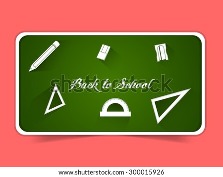 Nice and beautiful vector abstract for Back to School with nice green color board in a pink color background. - stock vector