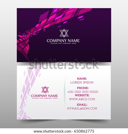 Nice Creative Business Card Visiting Card Stock Vector - Email business card templates