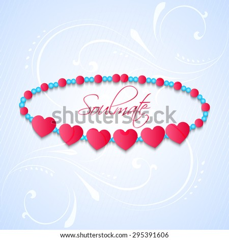 Nice and creative vector abstract for Happy Friendship Day with beautiful bracelet with heart shaped perl in a nice gradient background. - stock vector